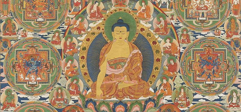 the buddha at the centre of a tibetan mandala