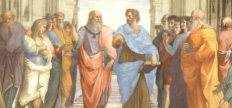 socrates discoursing with other philosophers
