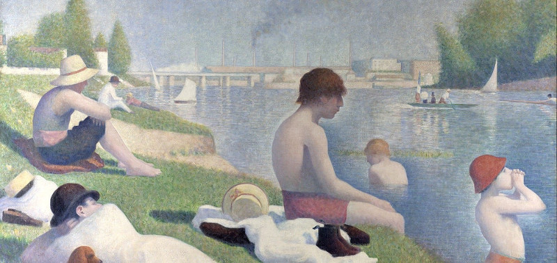 the bathers by seurat