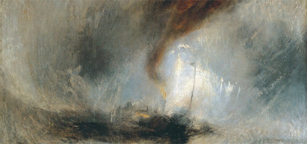 a ship at sea by turner