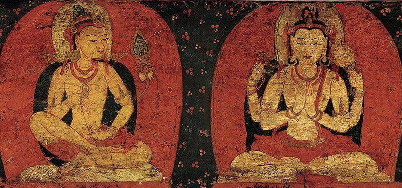 two bodhisattvas side by side