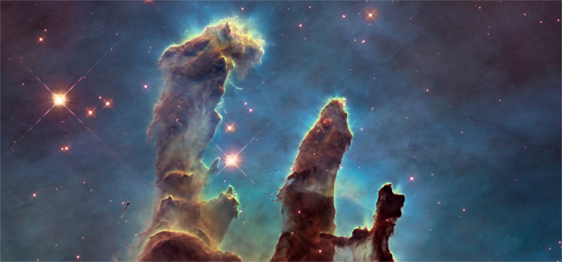 a space scene from the Hubble telescope