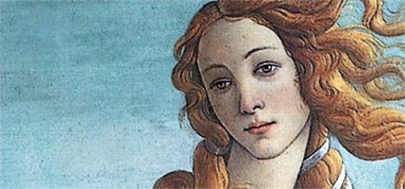 the face of Venus by Boticelli