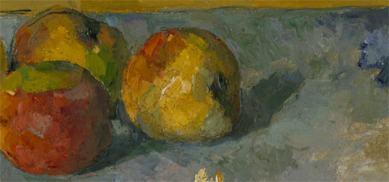 a detail of apples from a still life painting
