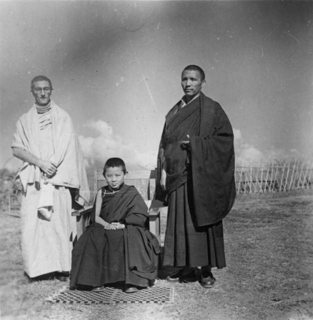 Sangharakshita With Kachu Rimpoche And Sogyal Rimpoche