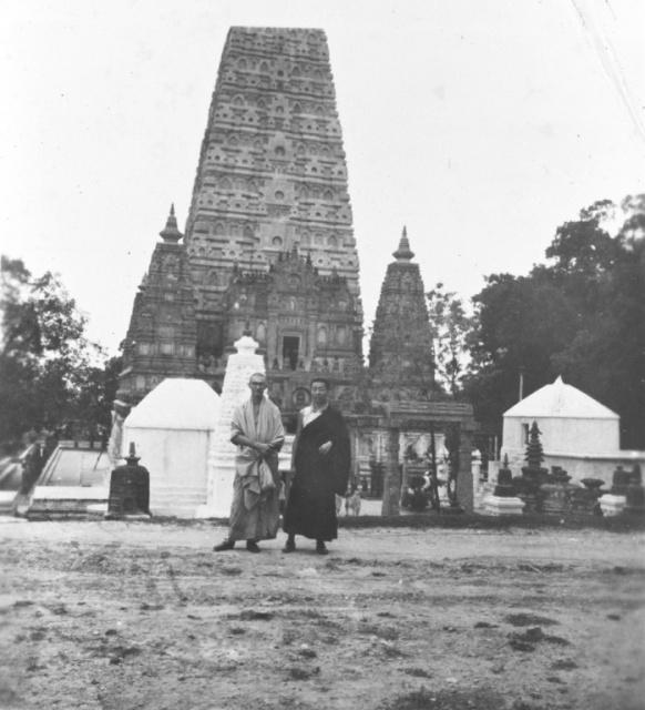 With Dhardo Rimpoche At Bodh Gaya