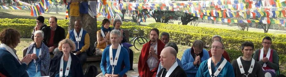 Pilgrims at Lumbini