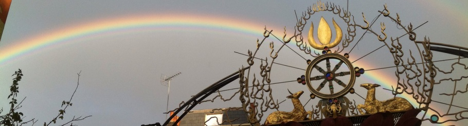 Double Rainbow over the Buddhist Centre