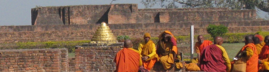 Indian Monks at the Jeta Grove