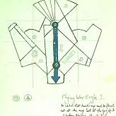 Flying War Eagle Sketch