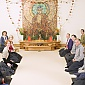 Bristol Triratna Sangha in Bristol Buddhist Centre shrine room