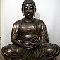 The Buddha figure at the Newcastle Buddhist Centre