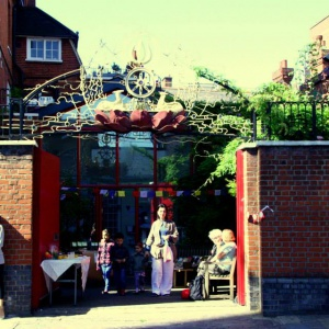 Front Gates of London Buddhist Centre