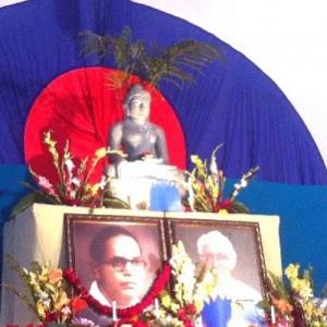 Ambedkar and Bhante Sangharakshita Shrine