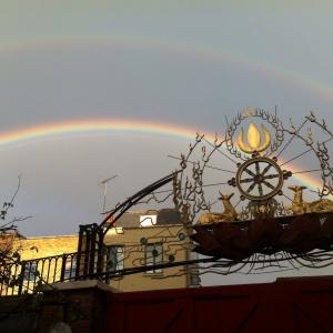 Double Rainbow over Buddhist Centre