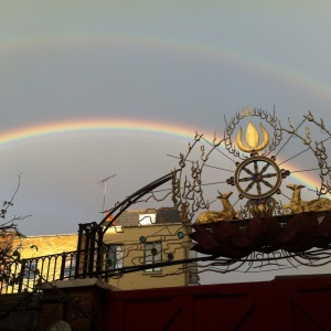 Double Rainbow over Buddhist Centre