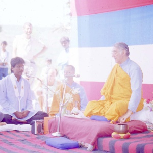 Bhante Sangharakshitra Conducting Ordination Ceremony at Retreat Center