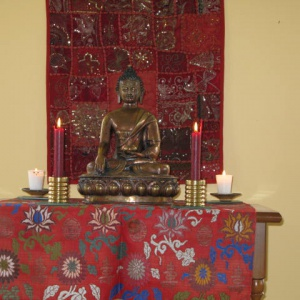 The shrine on the Nov. '08 Retreat.