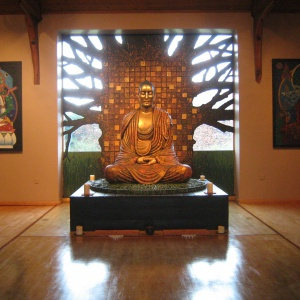 The Buddha under the Bodhi tree Padmaloka style