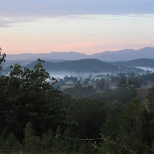 River mist rising