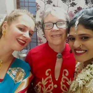 Neha with friends Annabeth and Shakyajata