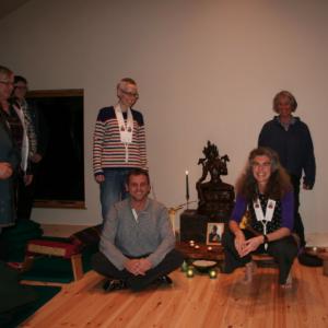Dedication ceremony in the Tara Cabin