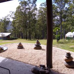 Stupa garden verandah