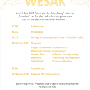 Programme from Buddhistisches Zentrum Essen (Essen, Germany)