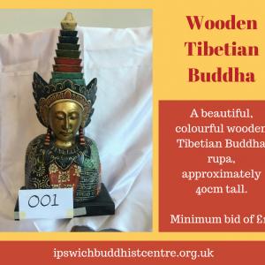 Wooden Tibetian Buddha