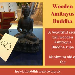 Wooden Amitayus Buddha