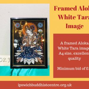 Framed Aloka White Tara Print