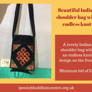 Lovely Indian shoulder bag with endless knot design