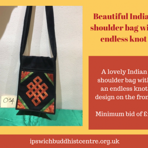 Lovely Indian shoulder bag with endless knot design