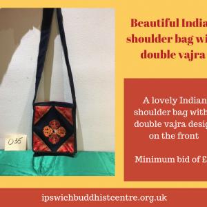 Lovely Indian shoulder bag with double vajra design