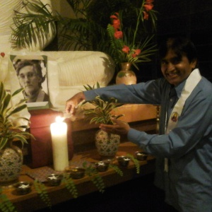 Dh. Milind Shakya Lighting Candle