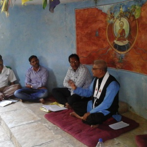 Dh. Anandbodhi leading Group Disscussion