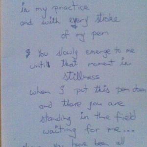 Poem by Stephen Hollins on Ranjit Sketch