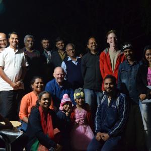 Dh. Subhuti with Community