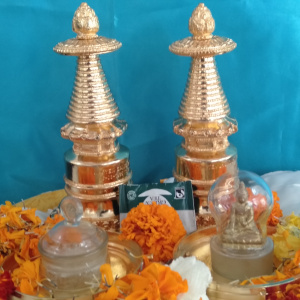 Relics with Small Golden Stupa
