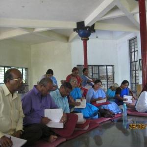 Listing to Dhamma Talk