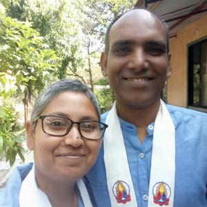 Dh. Karmavajra and Dhni. Vidhyavardhini