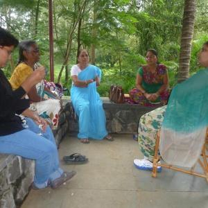 Dhni. Tarahardhaya talking to Group