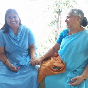 Dhni. Tarahardhya with Dhni. Abhayavati