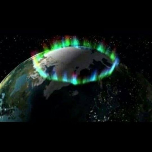 Recent NASA image of the northern lights encircling the rapidly melting polar ice-cap...