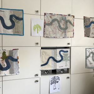 Textile Artwork created by the women involved in the Material Lives Project