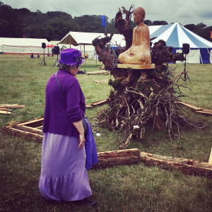 An outdoor shrine during Buddhafield 208