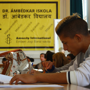 Students in the Dr Ambedkar High School in Hungary