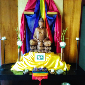 A special 'Pride' shrine at the Dublin Buddhist Centre