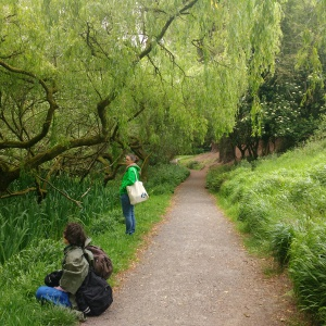 Reflective time amongst the trees during the Nature Walk and Write event