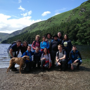 The Sangha hike in the Wicklow mountains - at the finish in Glendalough